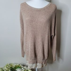 Urban Outfitters pins&needles lace trim sweater